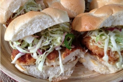 What's for Dinner: Fried Chicken Sandwiches with Slaw and Spicy Mayo